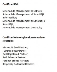 Certificari ISO & strategie
